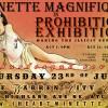 Minette Magnifique in Prohibition Exhibition
