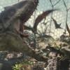 """Genetically enhanced dinosaurs do battle in """"Jurassic World"""""""