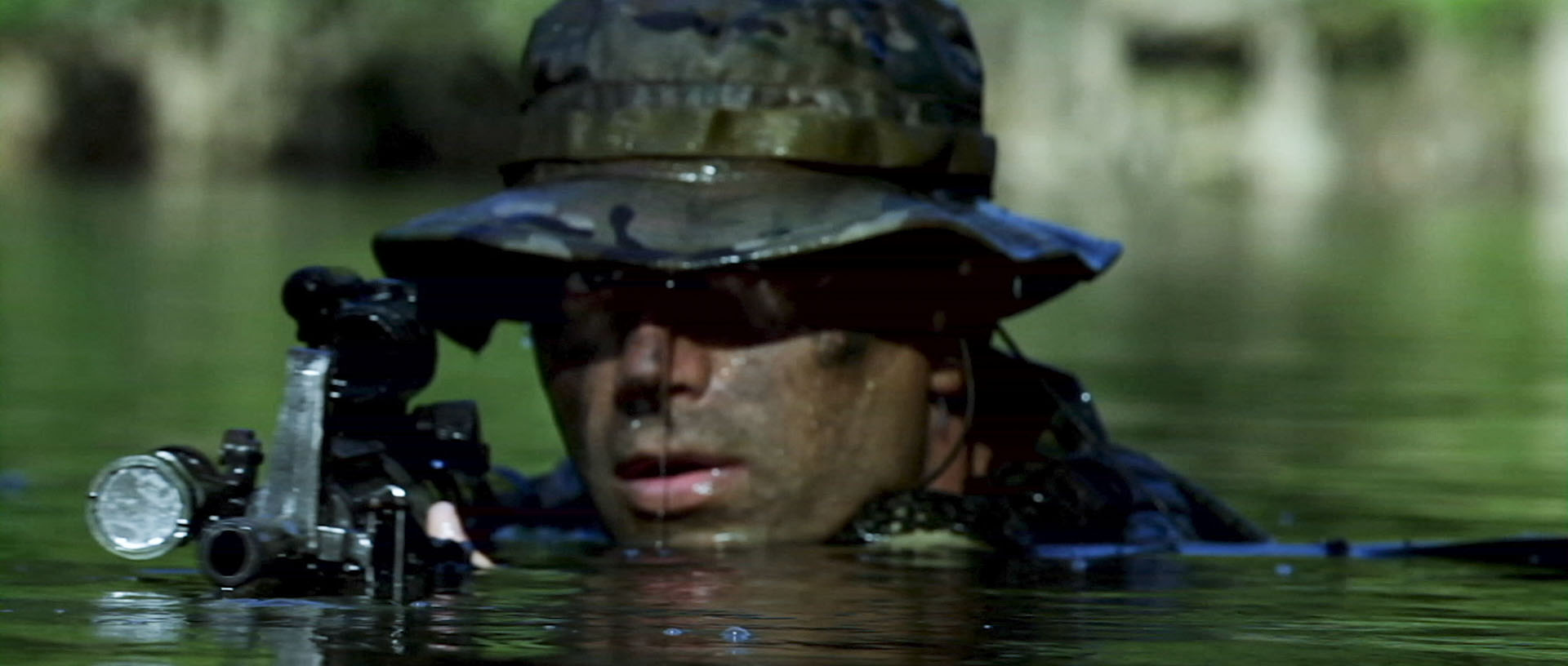 "... SEAL emerges from the water in ""Act of Valor"". Photo courtesy IATM LLC"