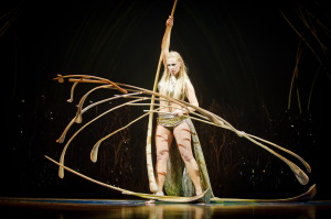 "Lara Jacobs Rigolo plays the Balance Goddess in Cirque du Soleil's ""Amaluna""."