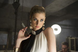 Elizabeth Debicki as the villainous Victoria Vinciguerra. Photo courtesy of Warner Bros. Pictures.